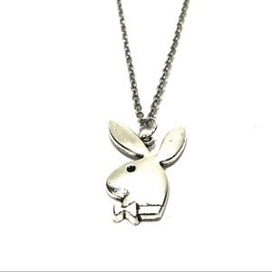 Playboy Bunny Silver Chain Necklace Pendant Unisex